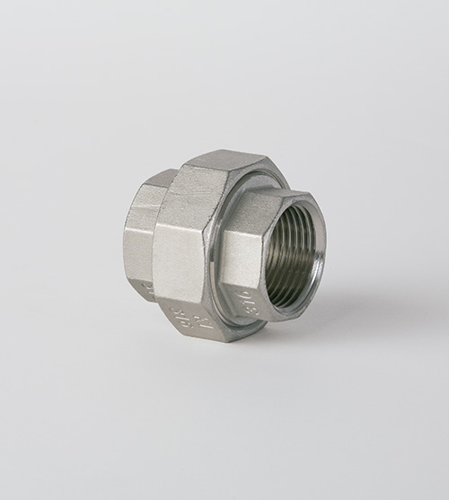 Male/female conical union casting threaded